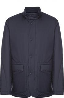 Утепленная куртка на молнии с воротником-стойкой Z Zegna