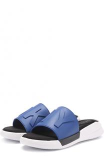 Резиновые шлепанцы Rebecca с логотипом бренда DKNY