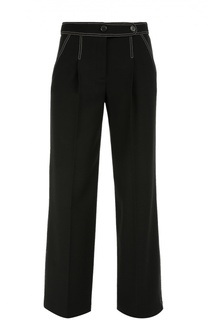 Шерстяные брюки прямого кроя с контрастной прострочкой Giorgio Armani