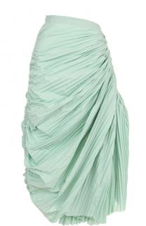 Плиссированная юбка-миди с драпировкой Marni