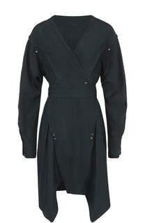 Шелковое мини-платье асимметричного кроя Isabel Marant