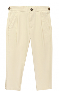 Хлопковые брюки с эластичной вставкой на поясе Gucci