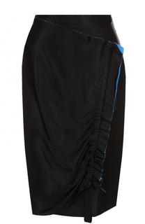 Юбка с необработанным краем и драпировкой DKNY