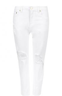 Укороченные джинсы с потертостями MICHAEL Michael Kors