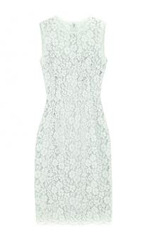 Приталенное кружевное платье без рукавов Dolce & Gabbana