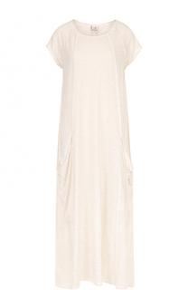 Платье-макси свободного кроя с накладными карманами Deha