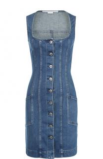 Джинсовое мини-платье без рукавов Stella McCartney
