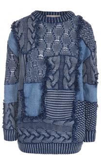 Пуловер фактурной вязки с круглым вырезом Stella McCartney
