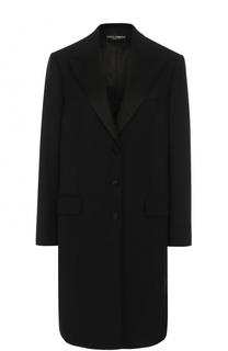 Пальто прямого кроя с широкими лацканами Dolce & Gabbana