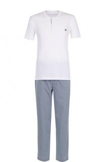 Хлопковая пижама с брюками Ermenegildo Zegna