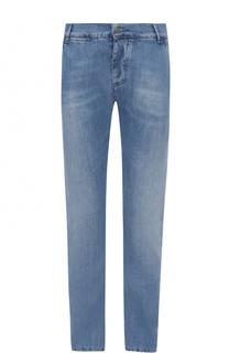 Джинсы прямого кроя с потертостями 2 Men Jeans