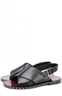 Кожаные сандалии с декоративной отделкой ранта Valentino