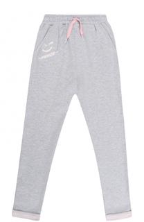 Спортивные брюки с принтом и отворотами Kenzo