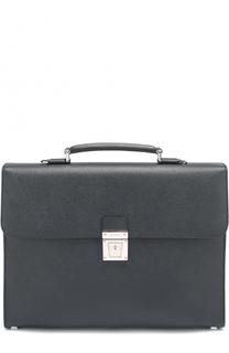 Кожаный портфель с плечевым ремнем Serapian