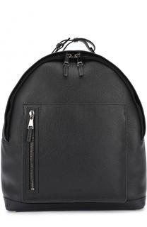 Кожаный рюкзак с внешним карманом на молнии Pal Zileri