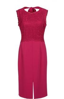 Платье с открытой спиной и отделкой кружевом Escada