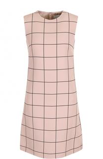 Мини-платье А-силуэта в клетку Valentino