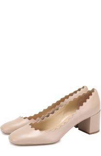 Кожаные туфли Lauren с фигурным вырезом Chloé