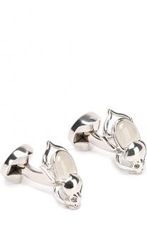 Запонки с кристаллами Swarovski Ermenegildo Zegna