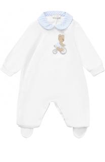 Хлопковый комплект из пижамы с аппликацией и шапки Il Gufo