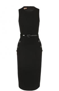 Приталенное платье без рукавов с поясом Michael Kors