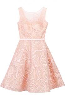 Приталенное мини-платье с вырезом на спинке и фактурной отделкой Basix Black Label