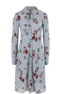Мини-платье свободного кроя с принтом Valentino