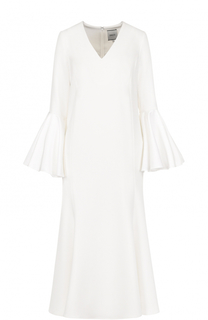 Платье-миди с расклешенными укороченными рукавами Edit
