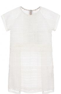 Кружевное мини-платье Burberry