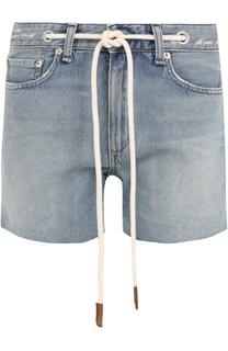 Джинсовые мини-шорты с контрастным поясом Rag&Bone Rag&;Bone