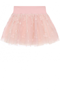 Мини-юбка с вышивкой и широким поясом I Pinco Pallino