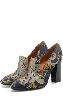 Текстильные туфли с цветочным принтом Ralph Lauren