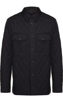 Удлиненная стеганая куртка на кнопках Tom Ford