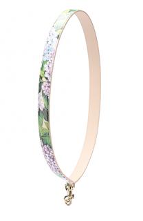 Кожаный ремень для сумки с цветочным принтом Dolce & Gabbana