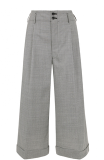 Укороченные широкие брюки со складками Comme des Garcons