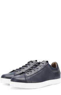 Кожаные кеды на шнуровке Gianvito Rossi