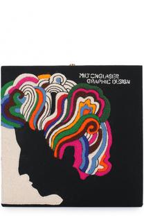 Клатч Milton Glaser с аппликацией Olympia Le-Tan