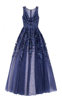 Платье в пол с пышной юбкой и декоративной отделкой Basix Black Label