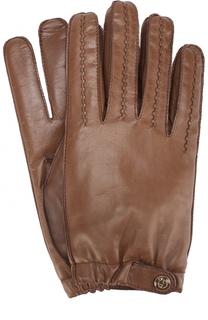 Кожаные перчатки с кашемировой подкладкой Giorgio Armani