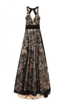 Платье-макси с подолом и открытой спиной Basix Black Label