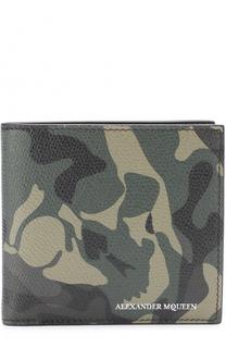 Кожаное портмоне с камуфляжным принтом Alexander McQueen