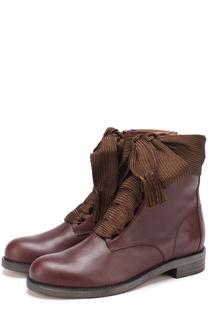 Высокие кожаные ботинки Harper на шнуровке Chloé