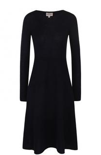 Приталенное платье-миди с длинным рукавом Armani Collezioni