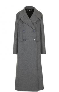 Удлиненное двубортное пальто с широкими лацканами Stella McCartney