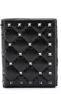Кожаный кошелек с заклепками Valentino