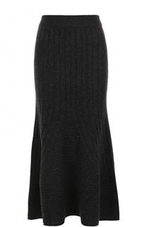 Шерстяная юбка-миди фактурной вязки Stella McCartney