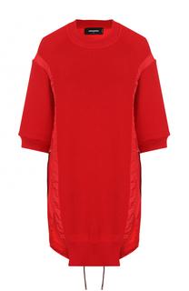 Удлиненный пуловер свободного кроя с круглым вырезом Dsquared2