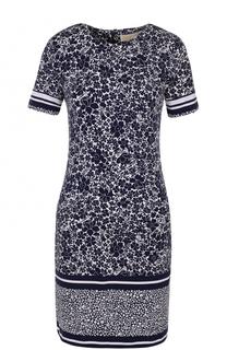 Приталенное мини-платье с цветочным принтом MICHAEL Michael Kors