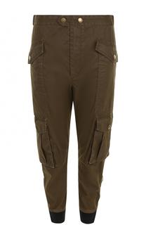 Укороченные брюки с манжетами накладными карманами Isabel Marant Etoile
