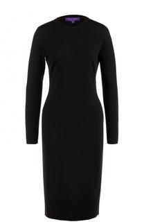 Шерстяное платье-миди с длинным рукавом Ralph Lauren